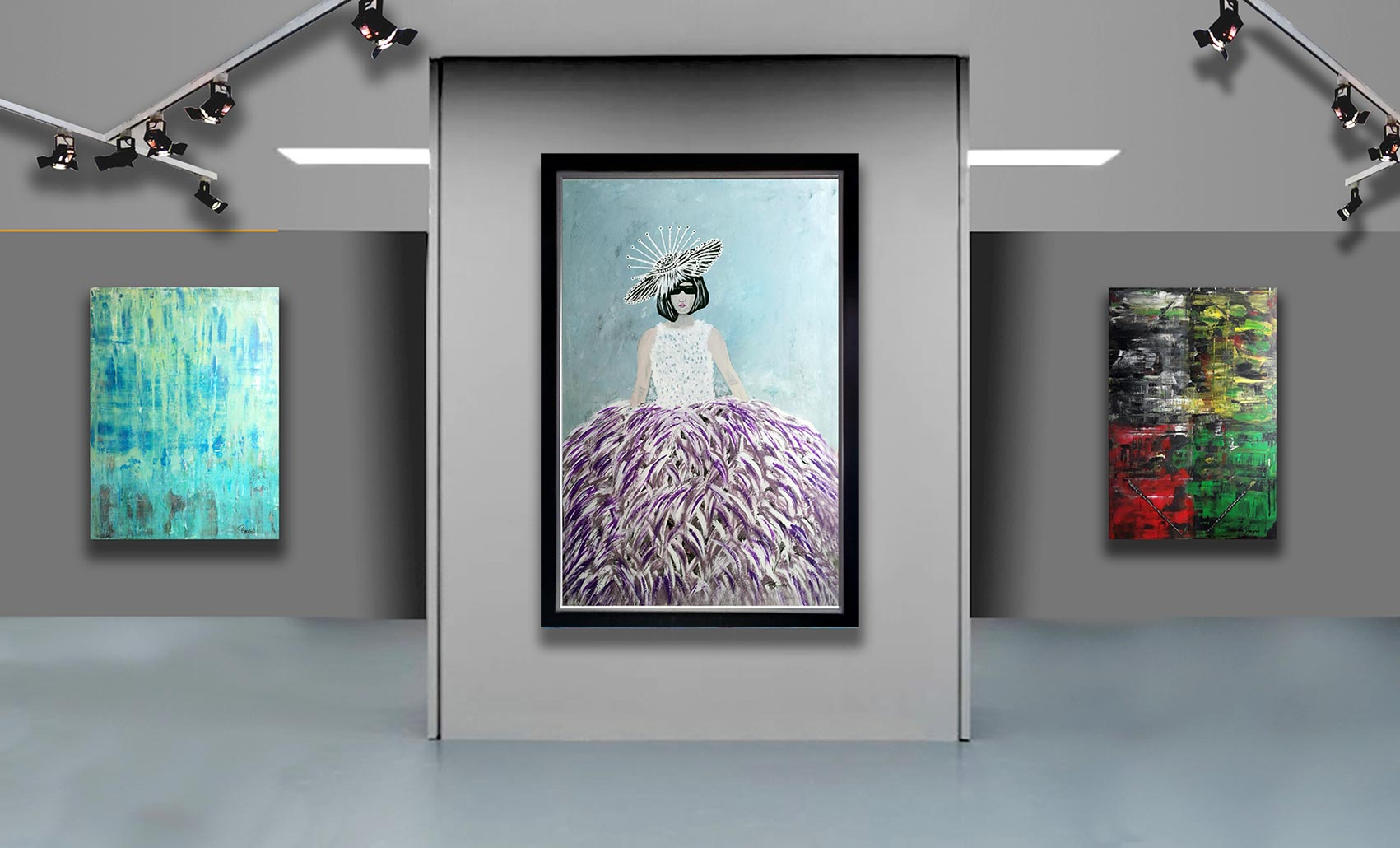 CATWALK-Iady-with-feathers-Patrick-Joosten-expo